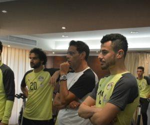 لاعبو المنتخب يواصلون لليوم الثاني تدريباتهم البدنية داخل معسكر برج العرب