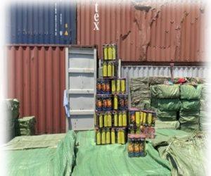 قبل أيام من بدء بطوله الأمم .. الداخلية تحبط  تهريب 20 طن ألعاب نارية عبر ميناء الدخيلة