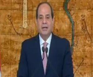 الرئيس السيسي: المصريون رسموا فى 30 يونيو طريقا للحفاظ على الوطن وتنميته