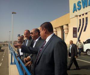 قيادات الطيران المدني يتفقدون مطار أسوان الدولي لمتابعة سفر حجاج الوجه القبلي