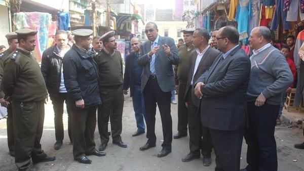 إزالة 1432 حالة إشغال من شوارع مدينة بني سويف (صور)