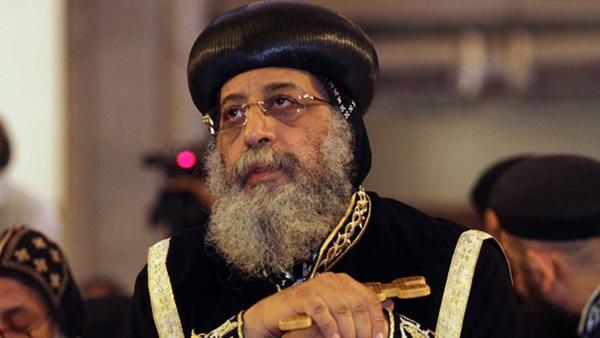 «تواضروس» يستقبل الرئيس اللبناني بالكاتدرائية المرقسية