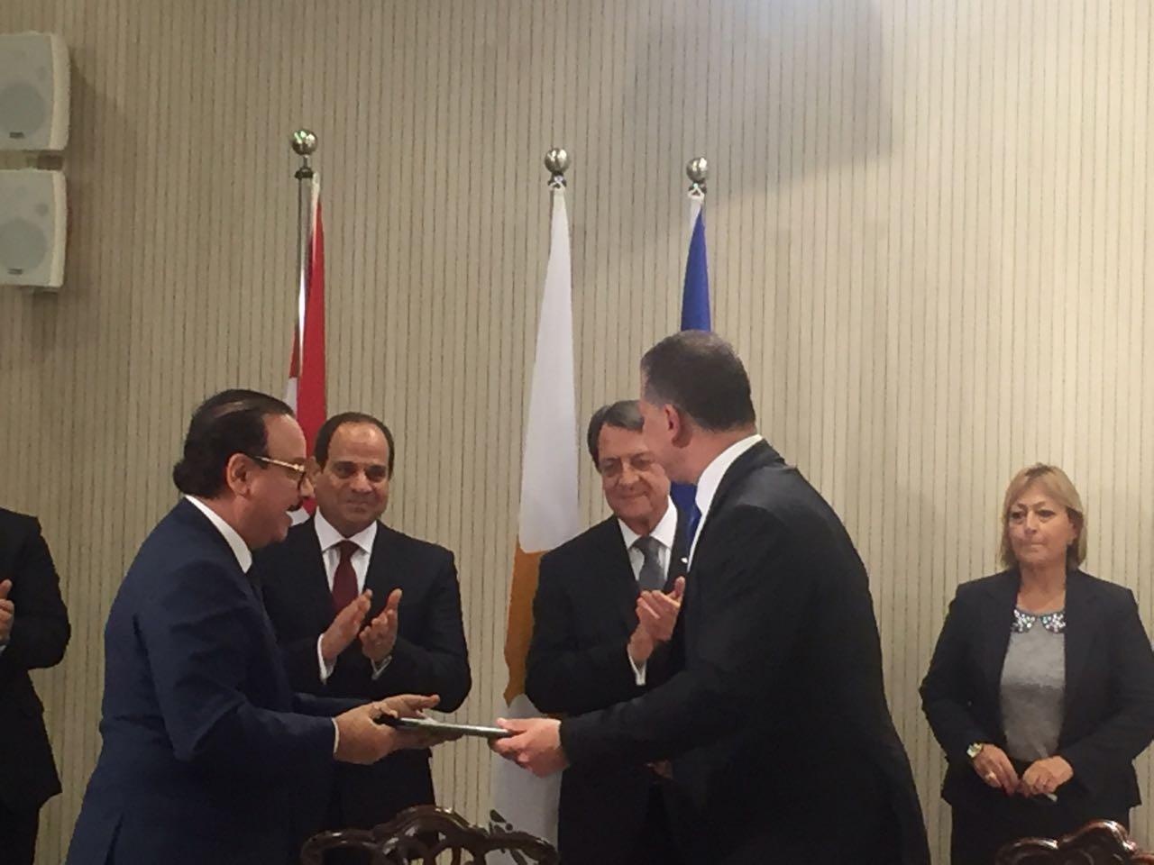 توقيع مذكرة تعاون في مجال الأعمال والاتصال بين مصر وقبرص2