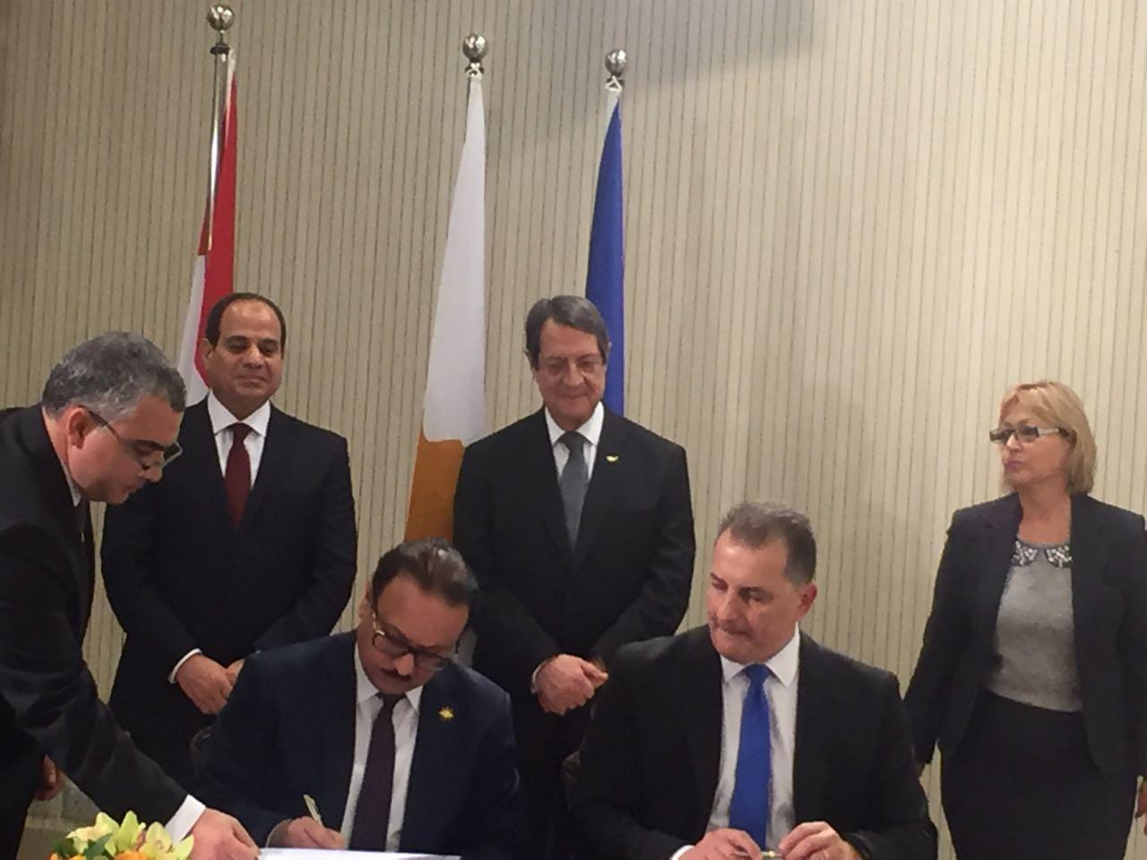 توقيع مذكرة تعاون في مجال الأعمال والاتصال بين مصر وقبرص3