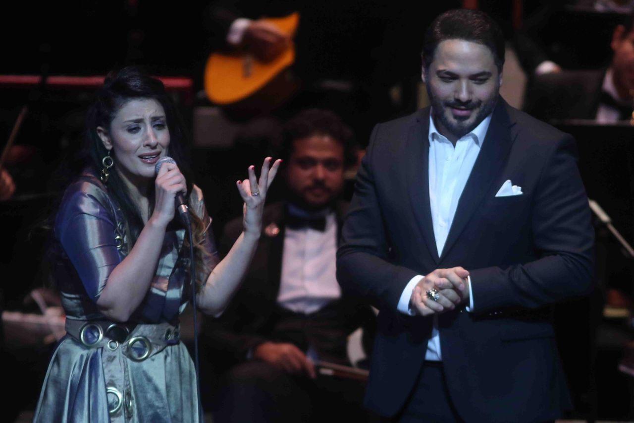 رامي عياش والفنانة أجفان في مؤتمر الموسيقى العربية