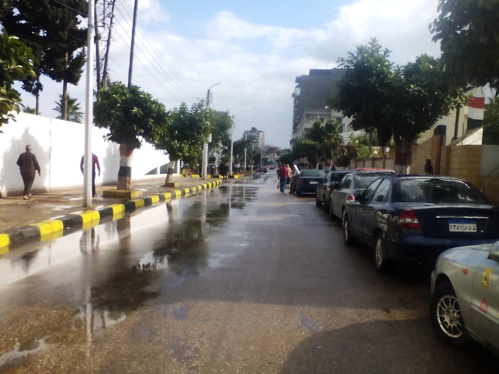 سقوط أمطار غزيرة على مدن دمياط (6)