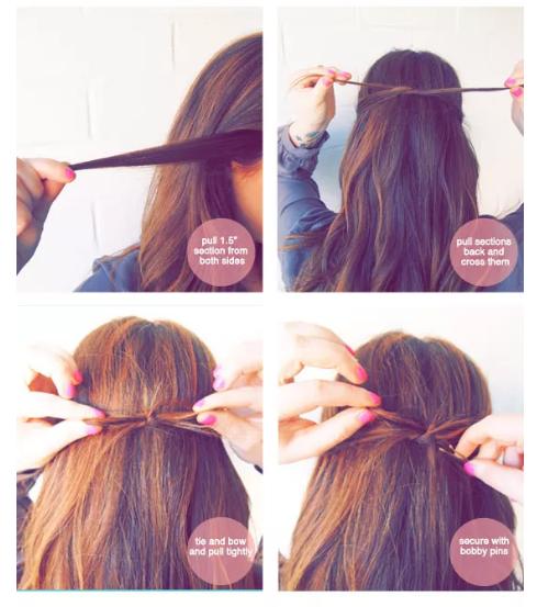هذه أيضاً تسريحة شعر رقيقة وبسيطة