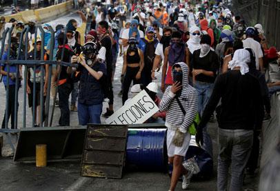 المظاهرات في فنزويلا