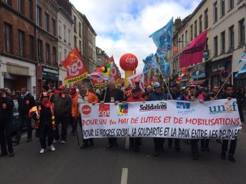 الاحتجاجات في فرنسا بمناسبة عيد العمال