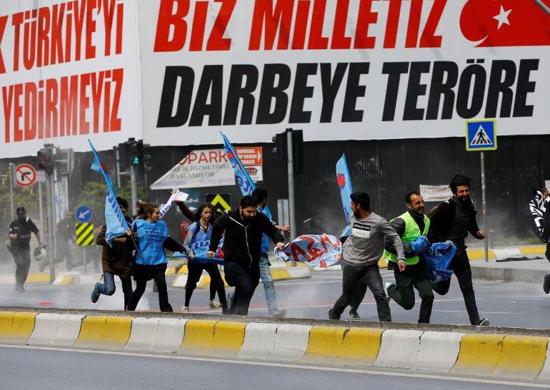 الاشتباكات في تركيا