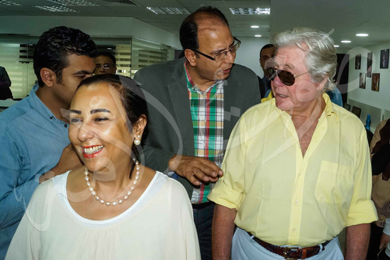 زيارة حسين فهمي لصوت الأمة (12)