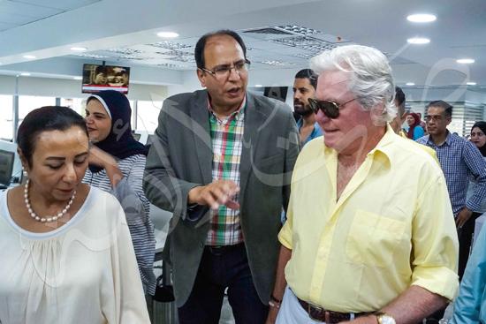 زيارة حسين فهمي لصوت الأمة (14)