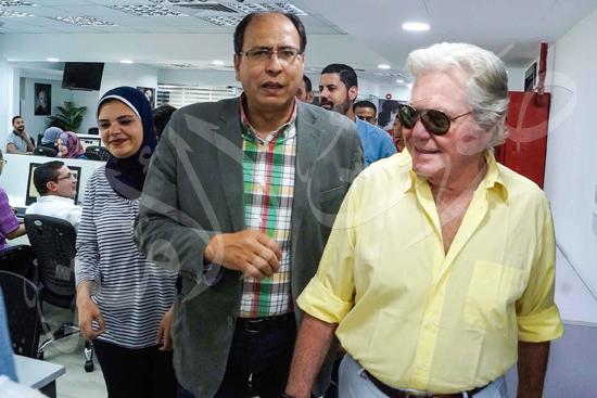 زيارة حسين فهمي لصوت الأمة (13)