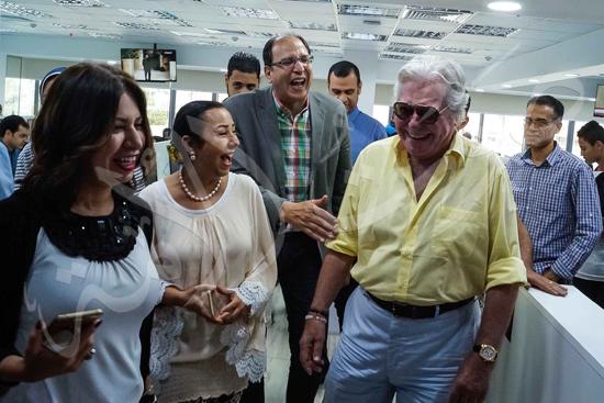 زيارة حسين فهمي لصوت الأمة (1)