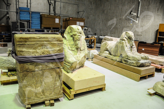 ترميم آثار المتحف الكبير (7)