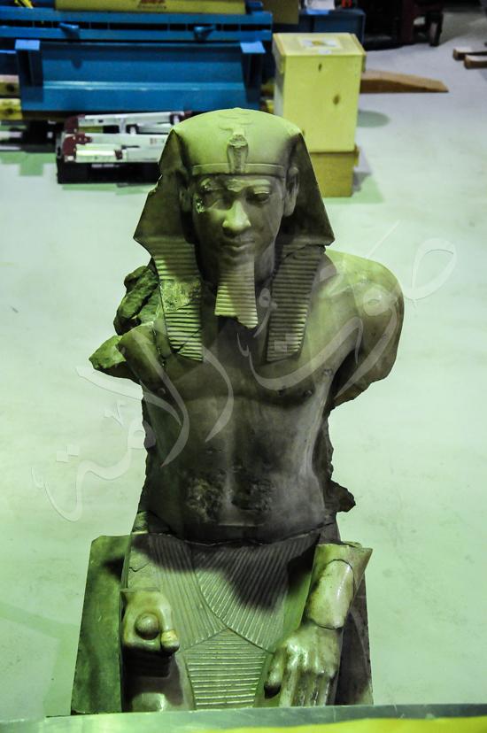 ترميم آثار المتحف الكبير (3)