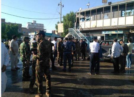 الشرطة العراقية في موقع الحادث