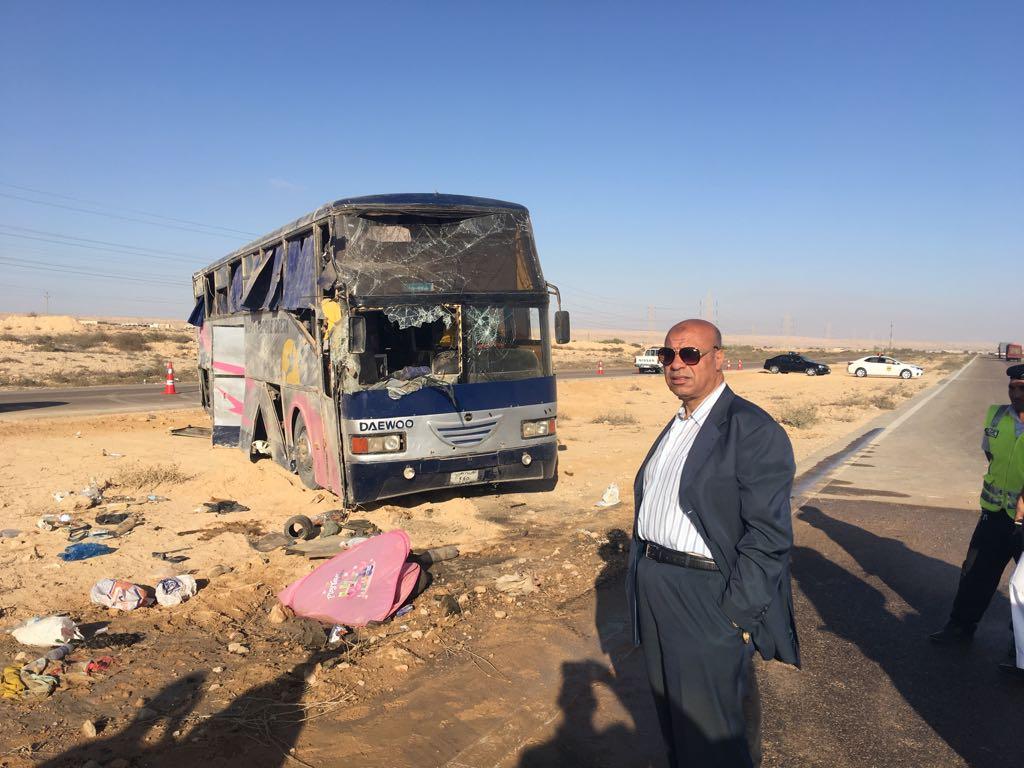 مدير أمن مطروح يزور مصابي حادث الأتوبيس  (10)