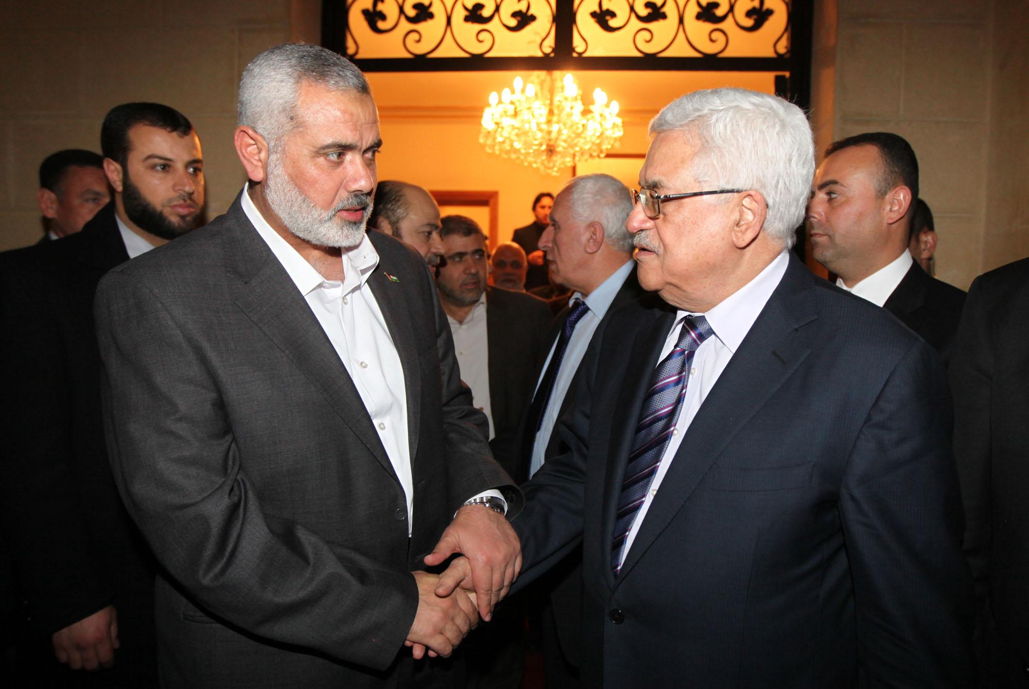 الرئيس الفلسطيني وإسماعيل هنيه