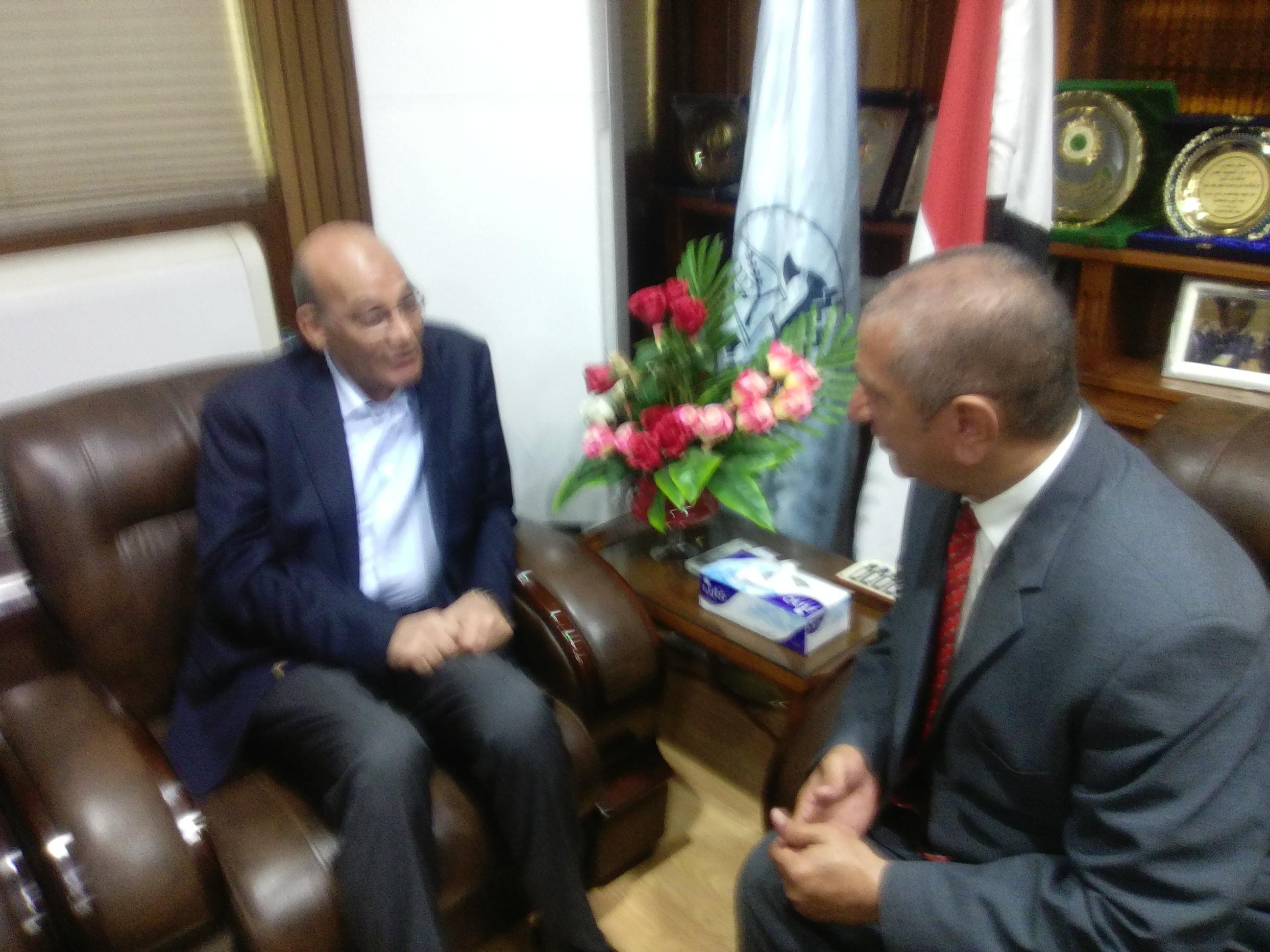 محافظ كفر الشيخ يستقبل وزير الزراعة  (1)