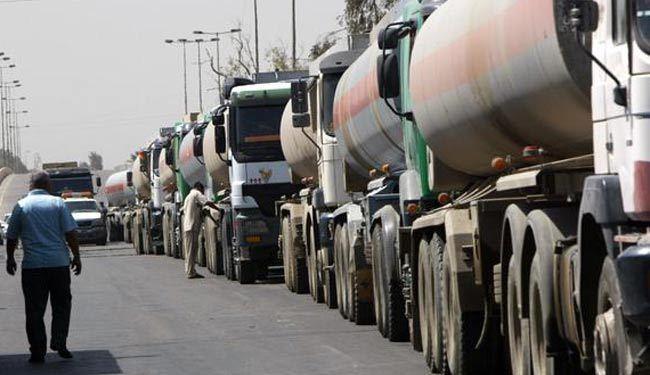 عربات تابعة لإقليم كردستان تنقل النفط