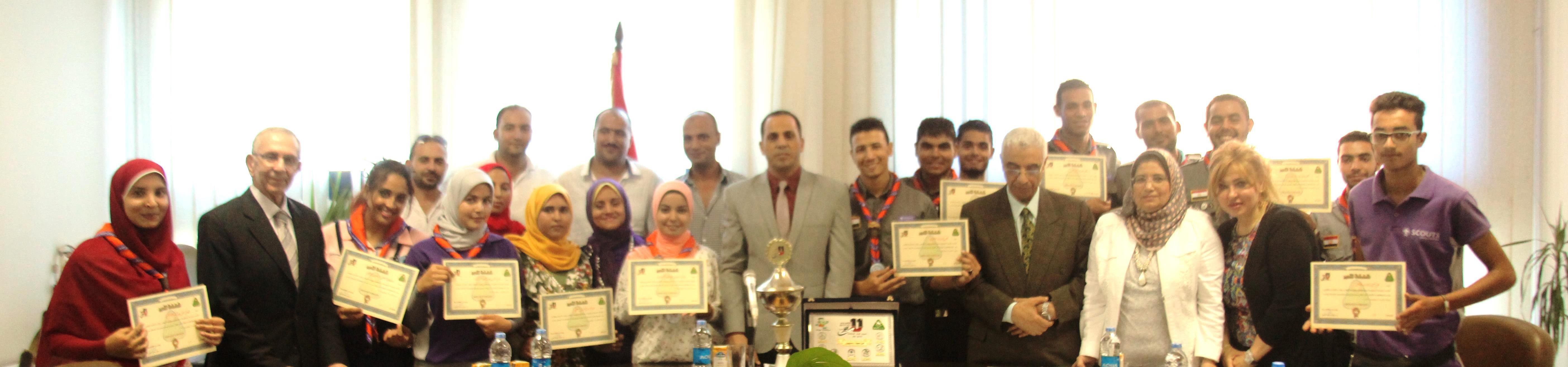 جامعة دمنهور تحصل على المركز الأول على مستوى الجامعات المصرية  1