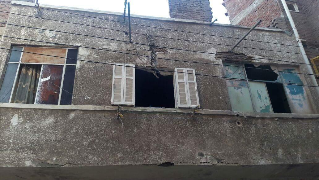سقوط سقف عقار بدمنهور (5)