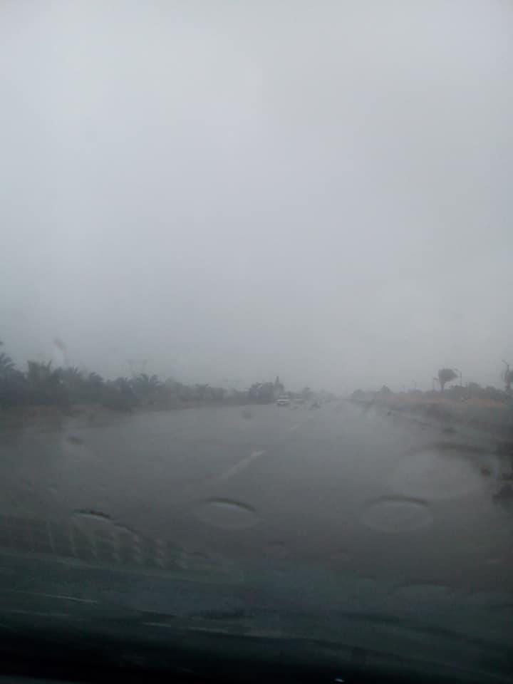3- سوء الأحوال الجوية على الطريق الدولي الساحلي