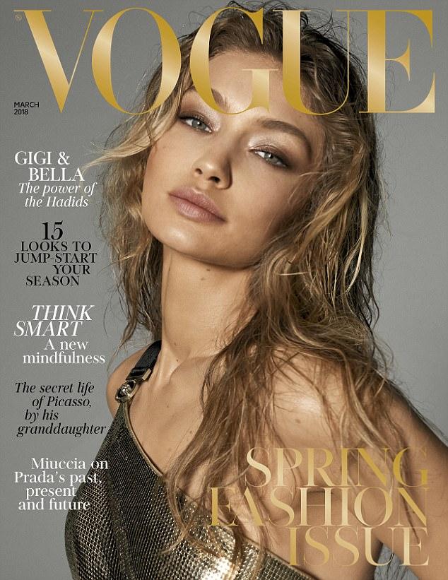جيجى وبيلا حديد على غلاف Vogue  (1)