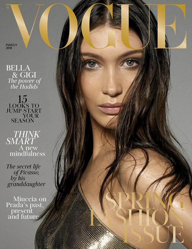 جيجى وبيلا حديد على غلاف Vogue  (2)