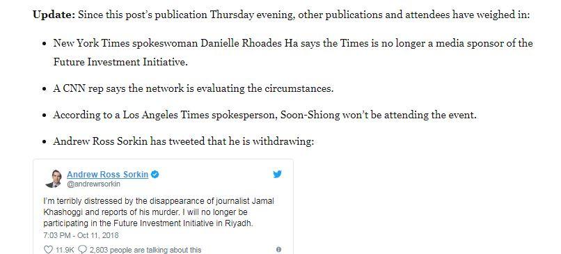 نيويورك تايمز تنسحب