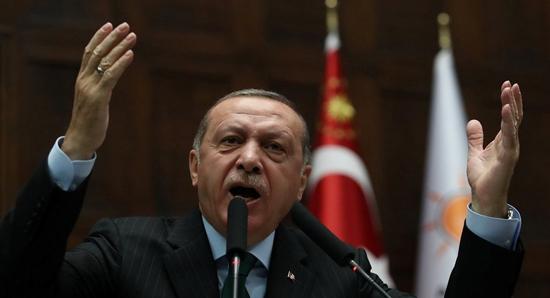 اردوغان خلال احد خطاباته