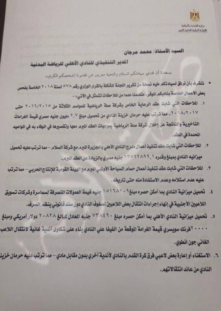 مخالفات النادي الأهلي (5)