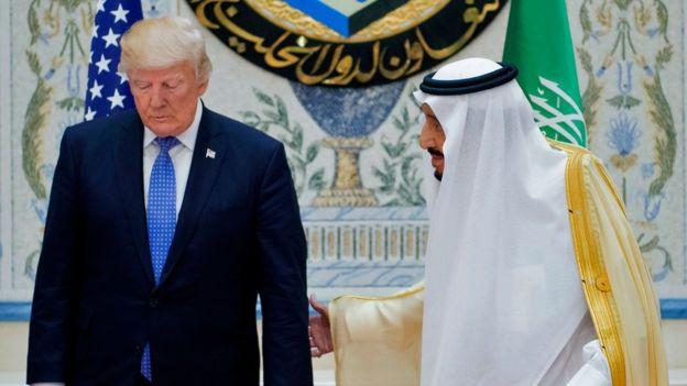 الملك سلمان والرئيس الأمريكي دونالد ترامب