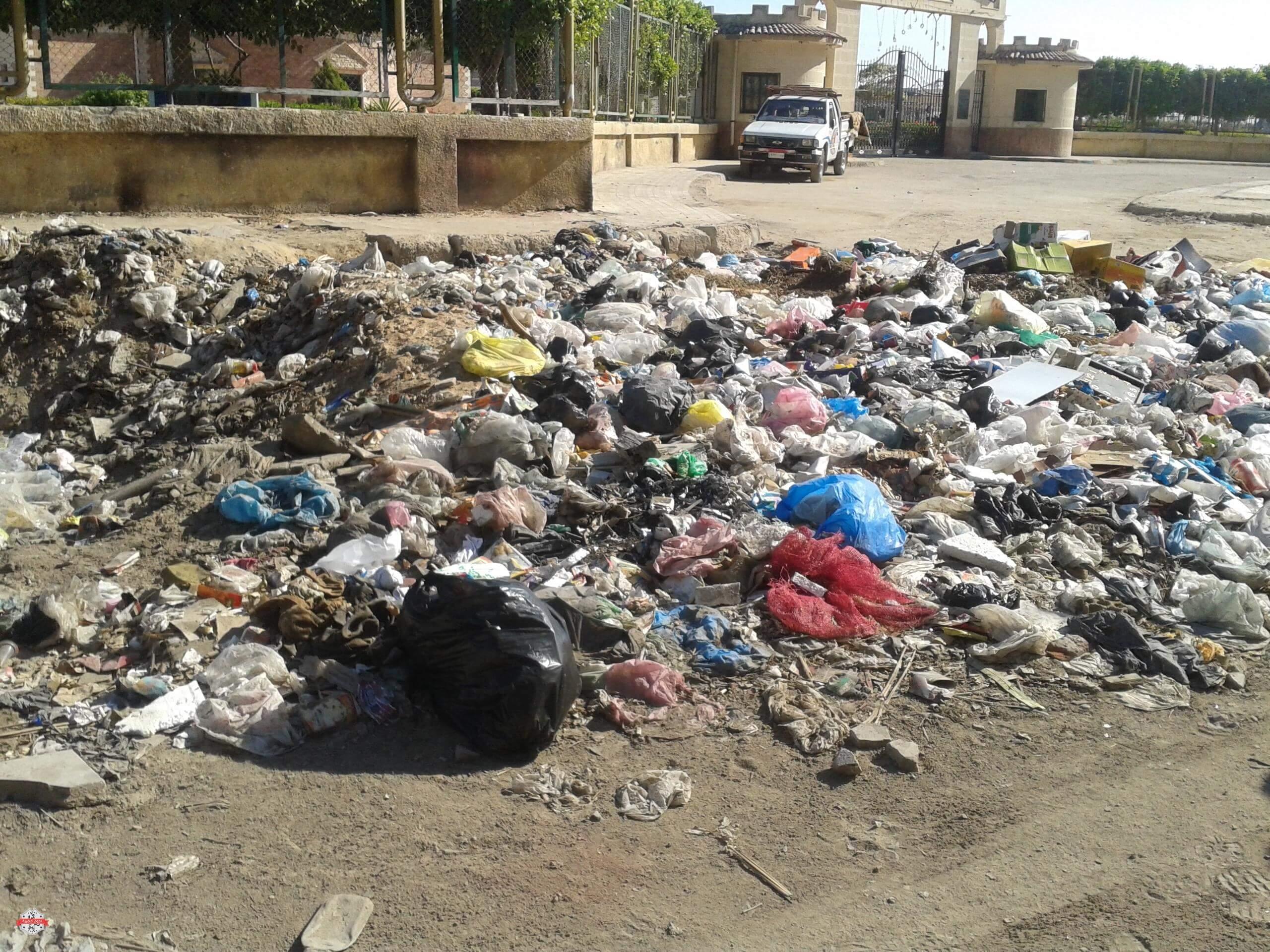 القمامة فى الشوارع