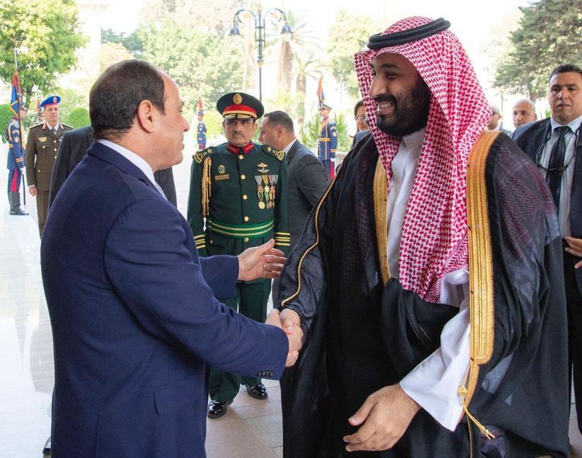 الرئيس السيسي وولي العهد الأمير محمد بن سلمان