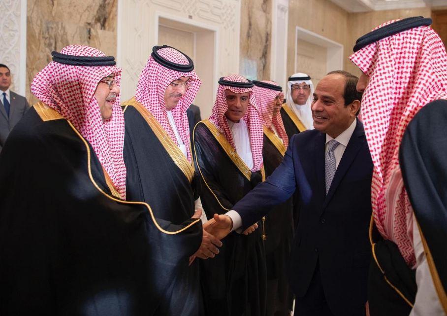 الرئيس السيسي في استقبال ولي العهد الامير محمد بن سلمان