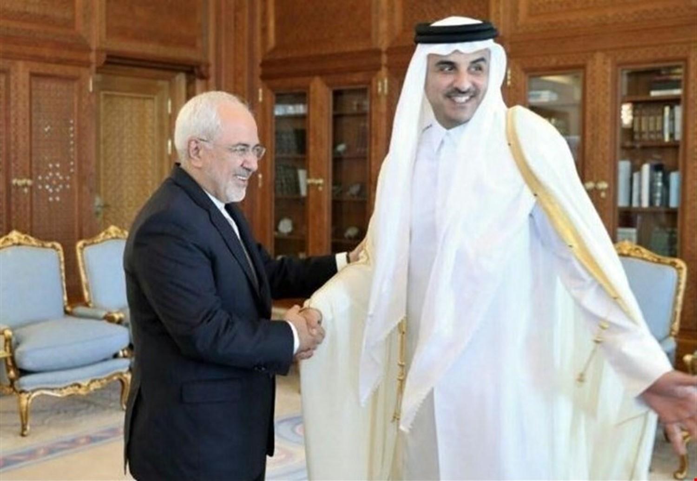 امير قطر ووزير الخارجية الايرانى