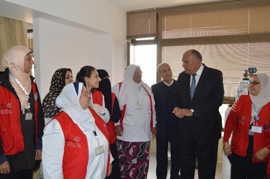 وزير الخارجية يشارك في مبادرة 100 مليون صحة (3)