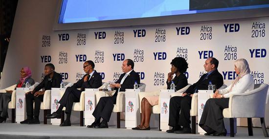الرئيس عبد الفتاح السيسي في منتدى أفريقيا 2018 (1)