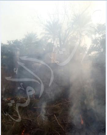 حريق فيلا عادل إمام