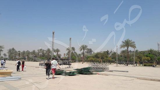 معابد الكرنك تستعد لاستقبال حفل ختام الأقصر عاصمة الثقافة العربية (7)