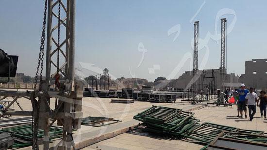 معابد الكرنك تستعد لاستقبال حفل ختام الأقصر عاصمة الثقافة العربية (2)