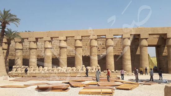 معابد الكرنك تستعد لاستقبال حفل ختام الأقصر عاصمة الثقافة العربية (6)