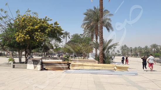 معابد الكرنك تستعد لاستقبال حفل ختام الأقصر عاصمة الثقافة العربية (5)