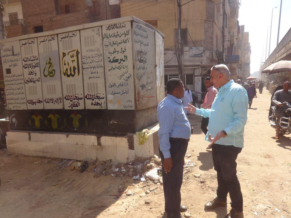 رئيس مدينة الأقصر يتابع أعمال رفع كفاءة وتطوير منطقة كوبرى أبو الجود (2)