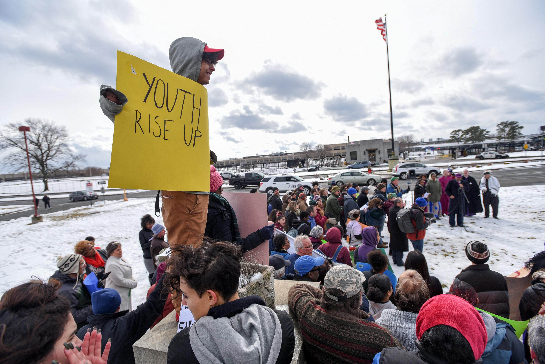 مظاهرات فى الولايات المتحدة ضد قوانين حيازة الأسلحة