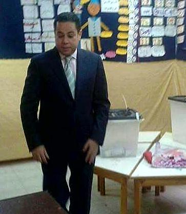 خالد بدوى يصل لجنته الانتخابية
