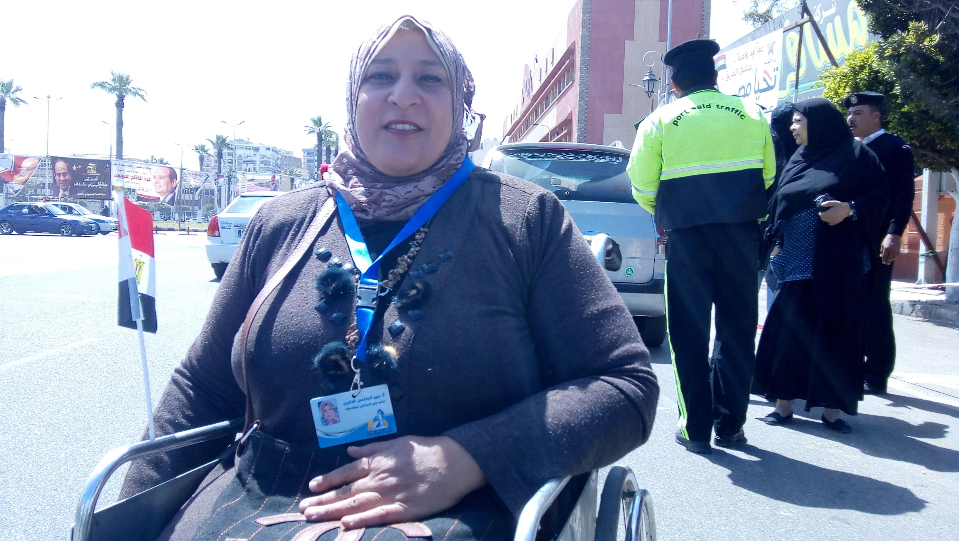 عبير الجابرى بطلة رفع الأثقال للمعاقين ببورسعيد