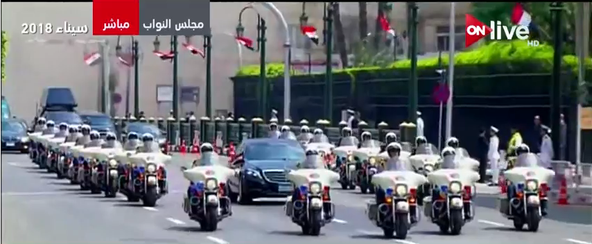 الرئيس السيسي يصل البرلمان لأداء اليمين الدستورية